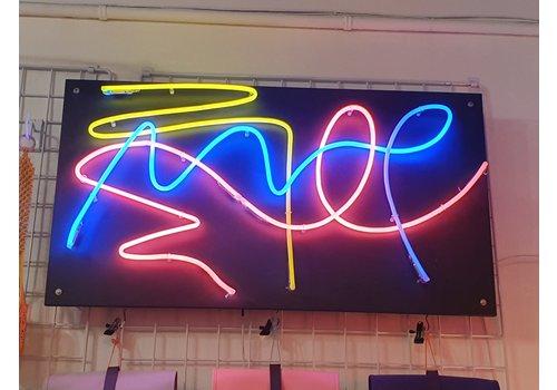 Ferran Capo Ferran Capo - Neon Art Piece - Large Black PVC