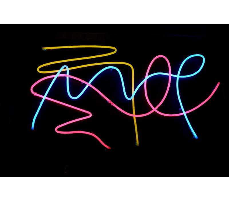 Ferran Capo - Neon Art Piece - Large Black PVC