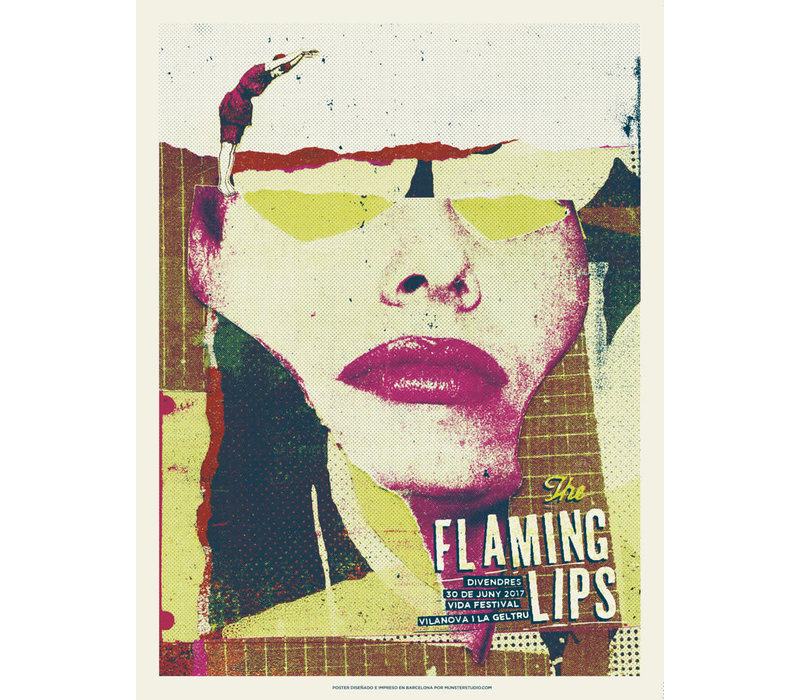 Münster - The Flaming Lips - Screen Print