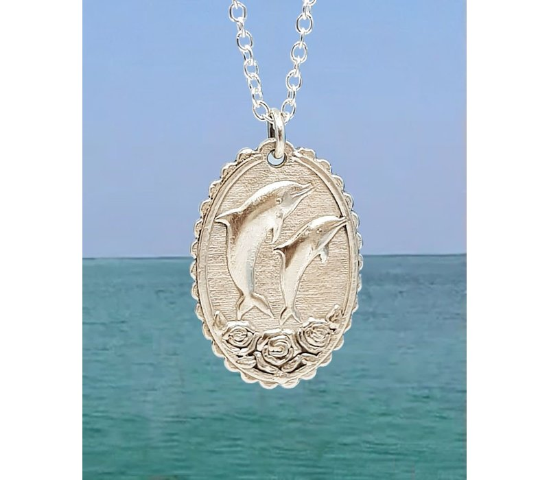 Xtellar - Dolphin Necklace - Silver