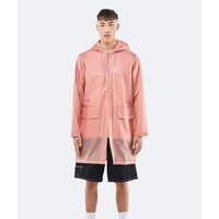 Rains - Transparent Hooded Coat - Foggy Coral