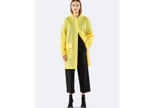 Rains Rains - Transparent Hooded Coat - Foggy Yellow - S/M