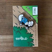Pindejo- smurf coffin by todd bratrud- pin