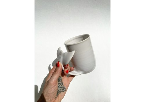 Annick Galimont Annick Galimont - Whale Mug - White