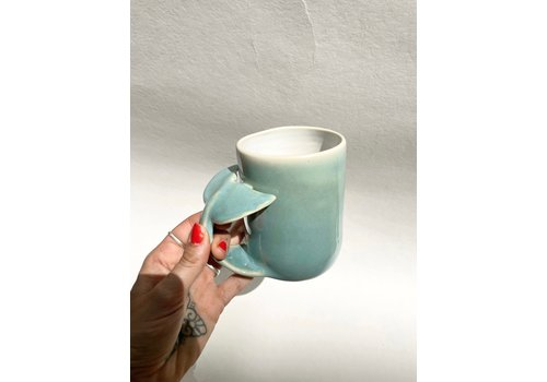 Annick Galimont Annick Galimont - Whale Mug - Turquoise