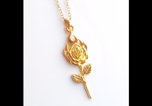 Xtellar Xtellar - Mini Rose on Fire Necklace