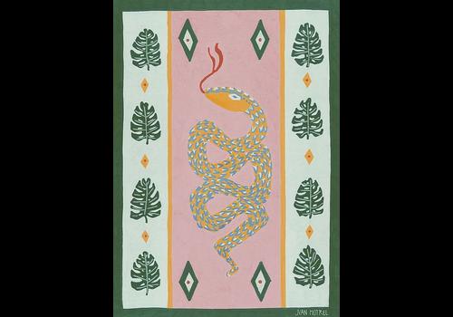 Juan Motrel Juan Motrel  - Serpiente Y Monstera  - Print