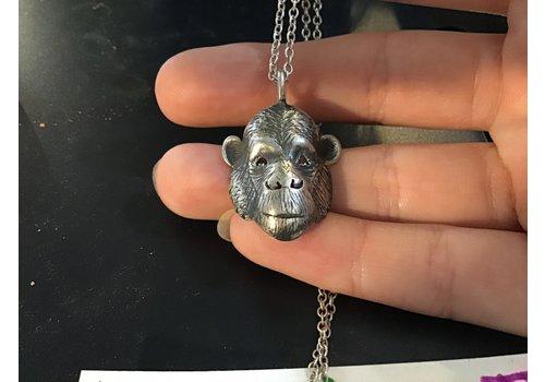 Michi Roman Michi Roman - Chimp Necklace - Sterling Silver