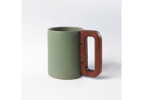 Matimanana Matimañana - Mug with Wooden Handle - Olive