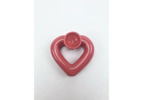 RompoTodo Rompotodo - Santan's Heart Pipe - Dusty pink