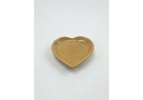 RompoTodo Rompotodo - Santan's Heart Plate - Mustard