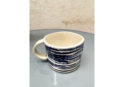 Blau Cobalt Blau Cobalt - Mug - Blue & White