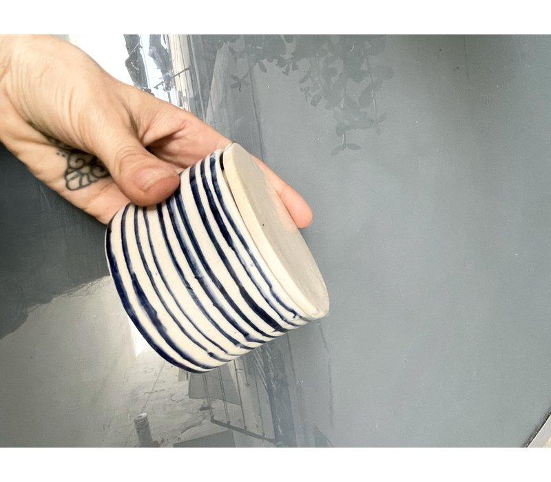 Blau Cobalt - Sugar pot - Blue & White