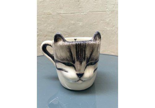 Agua de Fuego Agua de Fuego - Cat Mug - Grey