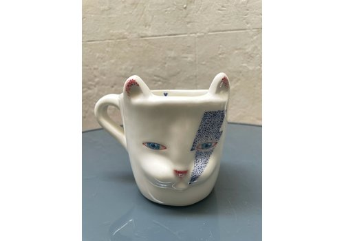 Agua de Fuego Agua de Fuego - Bowie Cat Mug - Blue