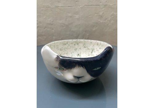 Agua de Fuego Agua de Fuego - Cat Bowl - Black &  white
