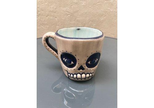 Agua de Fuego Agua de Fuego - Skull Mug - Grey