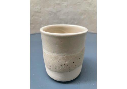 Maria Maceira Tajes M.A.E.V.O - Small cup - White/mottled