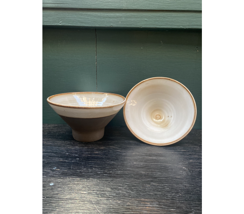 Palmira Cerámica - Cone Bowl - Brown and White