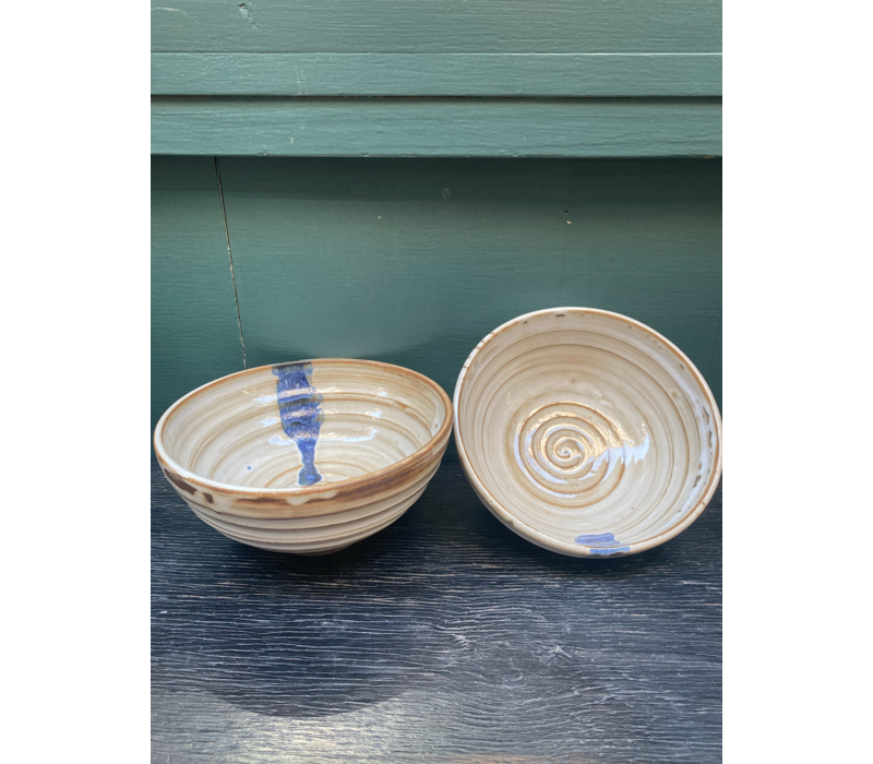 Palmira Cerámica - Ramen Bowl Jaén - Blue Stripe