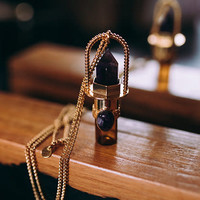 Three Souls - Gold Perfume Vial - Amethyst