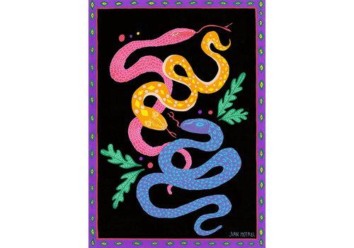 Juan Motrel Juan Motrel  - Purple Snakes - Print