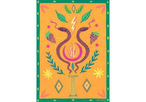 Juan Motrel Juan Motrel  - Ritual  -  Orange Print