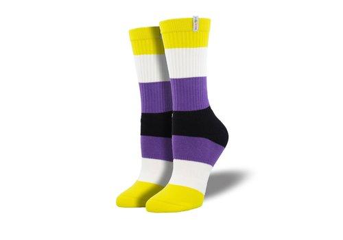 Socksmith Socksmith - Non-Binary Pride  - NOBS S/M Socks