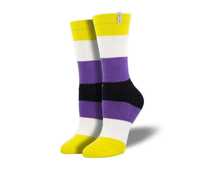 Socksmith - Non-Binary Pride  - NOBS S/M Socks