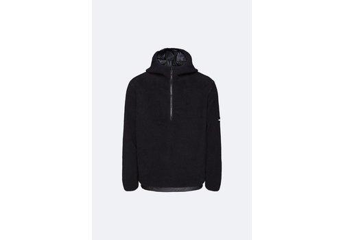 Rains Rains - Fleece Pullover Hoodie - Black