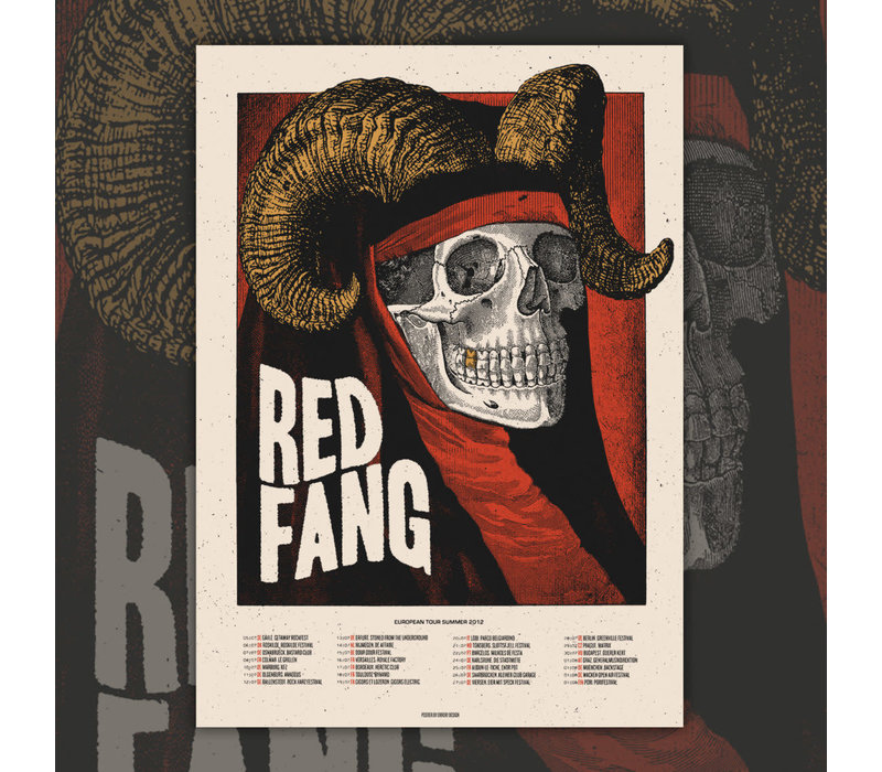 Error Design - Red Fang 2020 - Gig Poster