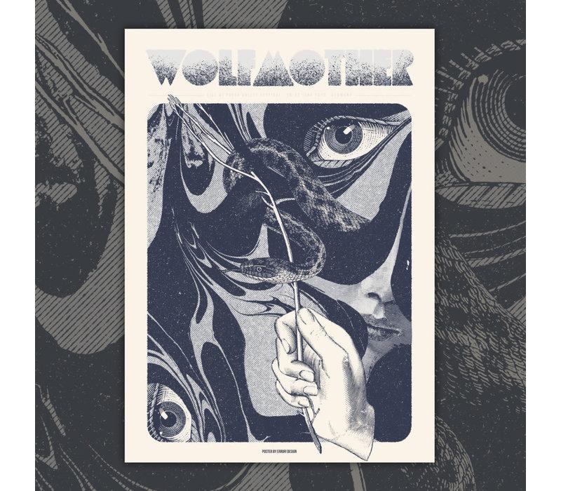Error Design - Wolfmother Silver - Gig Poster