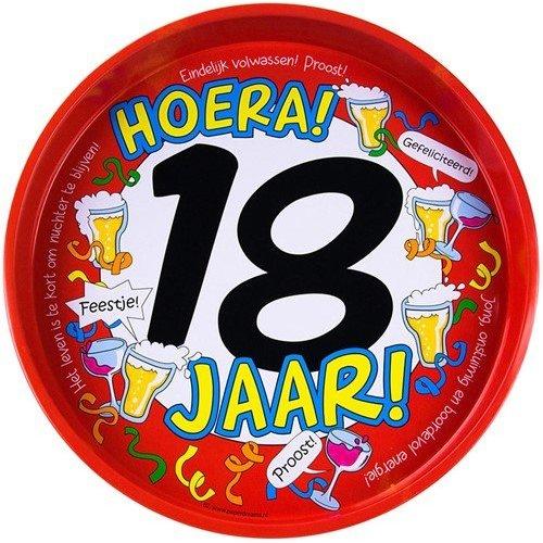 Bierpakket Dienblad (Hoera 18 jaar)