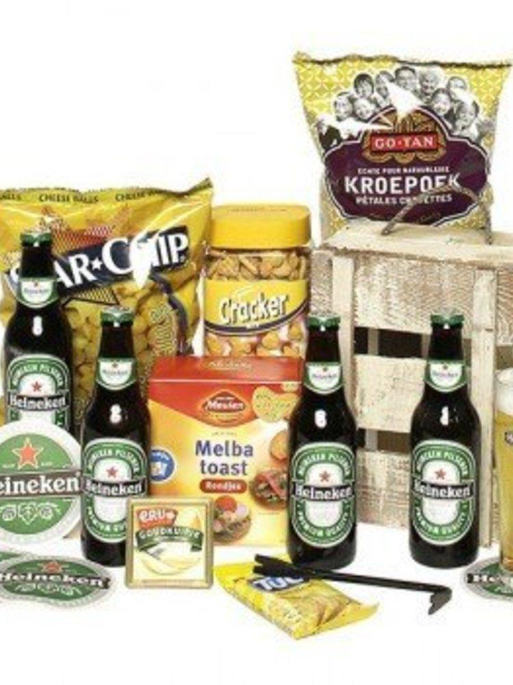 Bierbox Heineken Glas + Lekkernijen