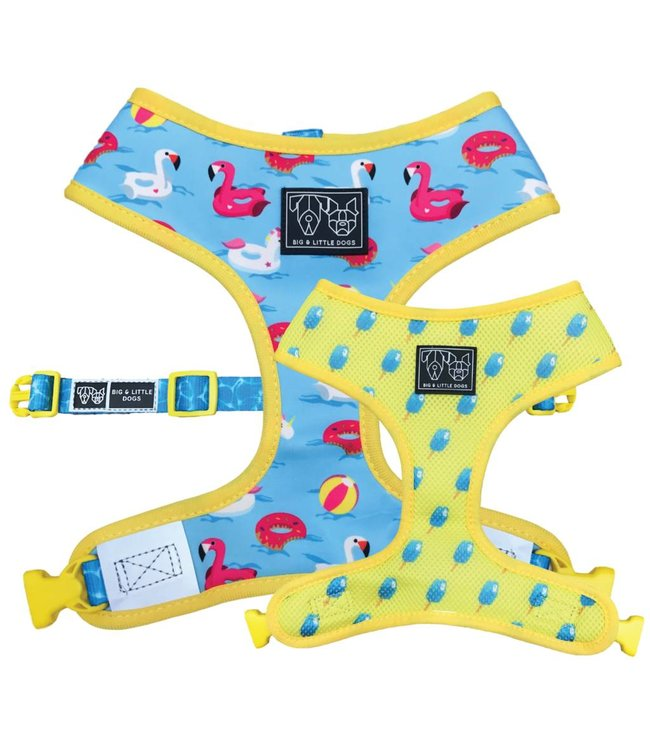 Big and Little Dogs Big and Little Dogs Reversible Pool Party ALLEEN X-SMALL
