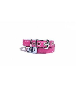 Buddy Belts Buddy Belt Halsband Leer Hot Pink