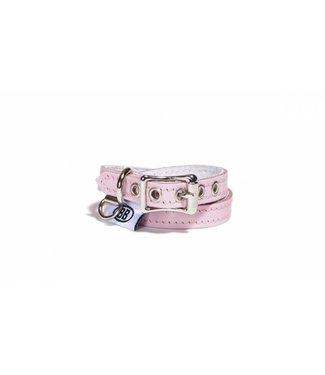 Buddy Belts Buddy Belt Halsband Leer Pink ( ALLEEN LARGE)