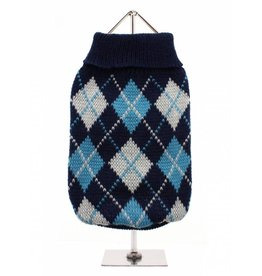 Urban Pup Urban Pup Blue Argyle Sweater