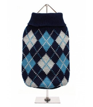 Urban Pup Urban Pup Blue Argyle Sweater
