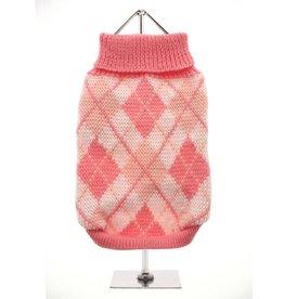 Urban Pup Urban Pup Pink Argyle Sweater