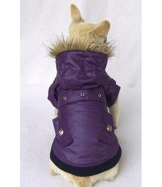 Waxcoat winterjasje paars