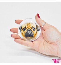 Pimp My Pug Spiegel Beige Pug
