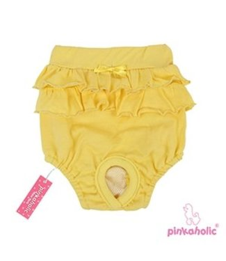Pinkaholic Pinkaholic Peeps Ary Panty Yellow (2 pack) alleen Small