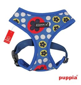 Puppia Puppia Blossom Harness model A Royal Blue