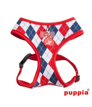 Puppia Puppia Argyle Harness model A Red ( alleen XL )