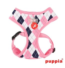 Puppia Puppia Argyle Harness model A Pink ( alleen XL )