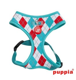 Puppia Puppia Argyle Harness model A Aqua