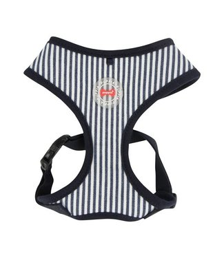 Puppia Puppia Bobby Harness model A Striped Navy