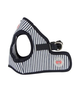 Puppia Puppia Bobby Harness model B Striped Navy