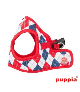 Puppia Puppia Argyle Harness model B Red ( ALLEEN XL )